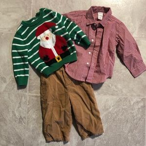 3 piece Santa sweater set 🎅🏼